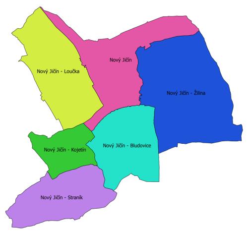 mapa místních částí