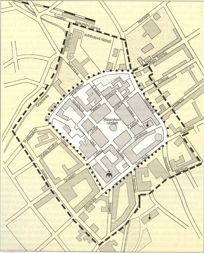 mapka MPR střed města