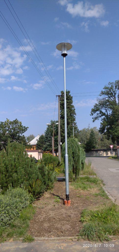 Veřejné osvětlení na Hřbitovní ulici