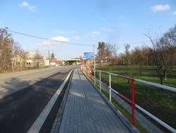 Výstavba chodníku v Loučce
